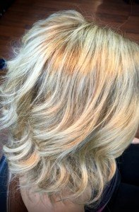 Blonde hair color Gore Hair Salon Irmo Columbia SC