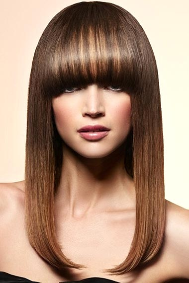 In Salon Caramel Hair Highlights
