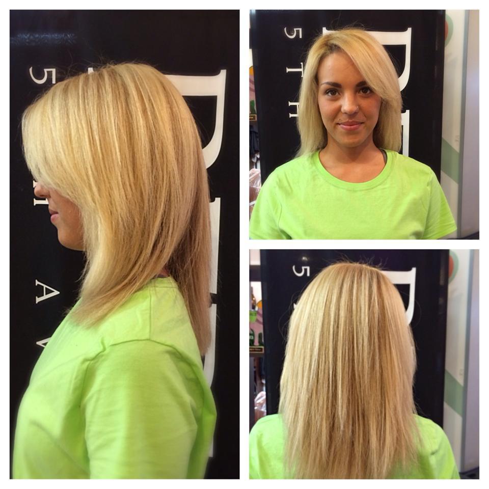 Hair Extensions at Gore Salon. Natural human hair extensions
