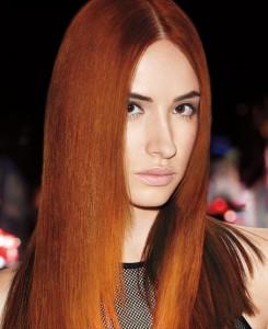 Red hair color Gore hair salon Irmo Columbia SC