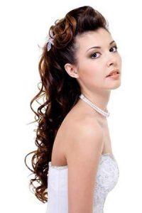 Long Hairstyle Wedding Bridal 123