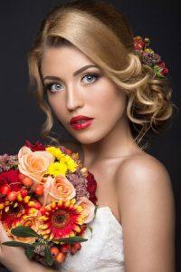 Medium Length Bridal Hair 123