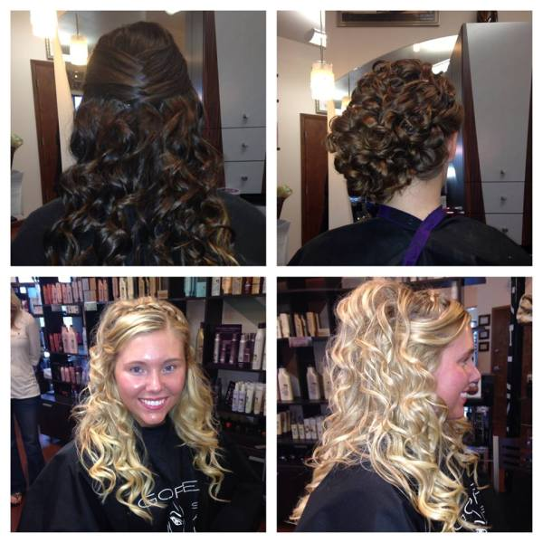 Prom Hairstyle ideas Gore hair salon Irmo Columbia SC