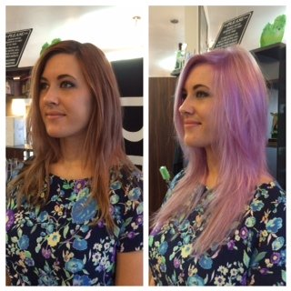 First Lavender Locks, Now Blue Ombre!