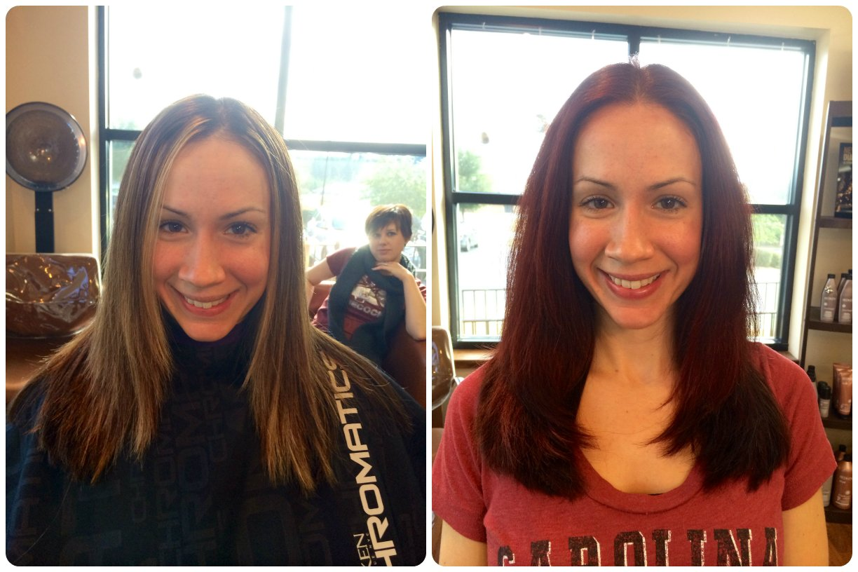Going Red with Redken Chromatics