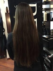 jennifer before donating hair Locks of Love
