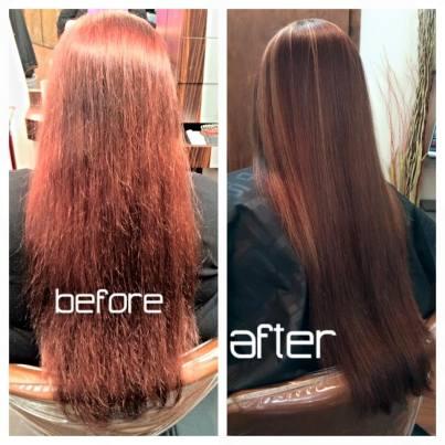 color correction with Olaplex at Gore Salon Columbia SC