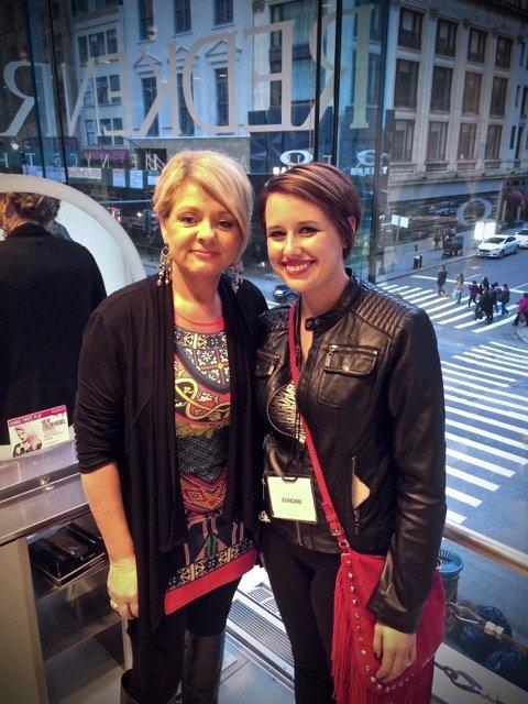 Terri and Lauren in NYC for Redken Exam