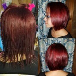 red purple hair columbia SC at Gore Salon