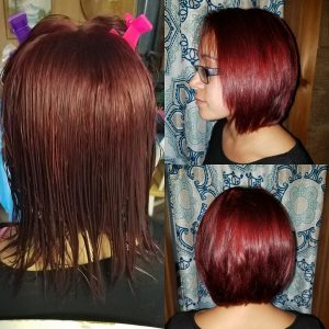 red purple hair columbia SC at Gore Salon