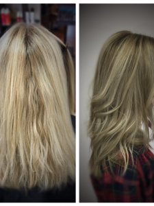 blonde color correction Gore Salon Lauren