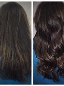 brunette hair transformation Gore Salon Lauren