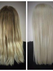 going platinum blonde Gore Salon by Lauren