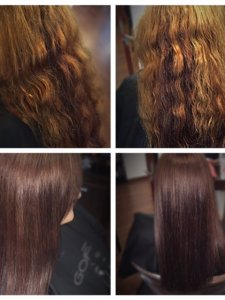 hair color and smoothing by Lauren at Gore