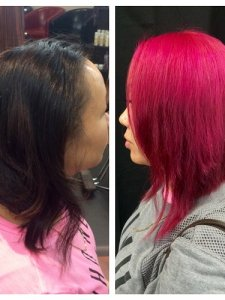 pink hair by becky