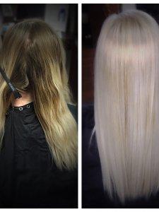 platinum blonde Gore Salon Lauren